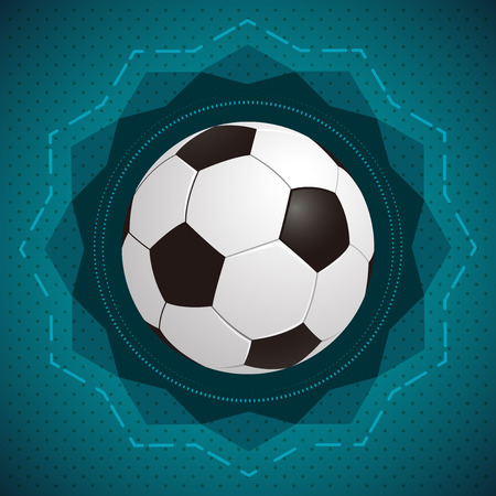 Football (soccer) illustration - icon  badge - ready for your text