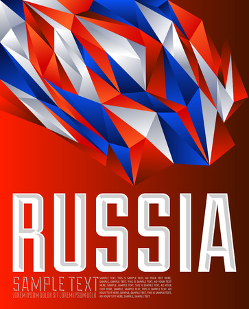 russian  russia: Russia - Vector geometric background - modern flag concept - Russian colors