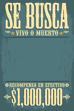 Se Busca Vivo O Muerto Wünschte Tote Oder Lebendig Poster Spanische