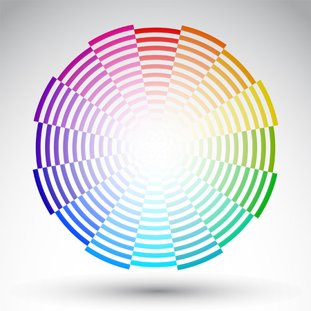 chromatique: Cercle chromatique - conception de vecteur de roue couleur