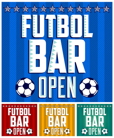 futbol: Futbol - Football spanish text - Sports Bar Menu card design