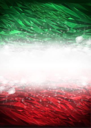 bandera mexicana: Fondo rojo y verde listo para su texto, Modern Mexico - Italia fondo - colores de la bandera Foto de archivo
