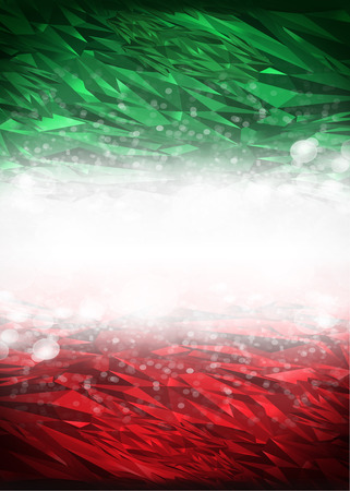 Rode en groene achtergrond klaar voor uw tekst, Modern Mexico - Italië achtergrond - vlag kleuren
