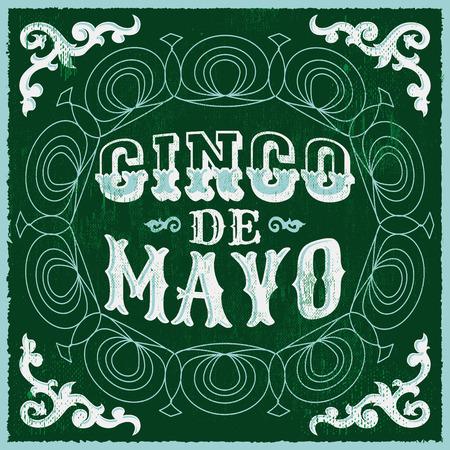 president of mexico: Cinco de mayo, vintage mexican traditional holiday design