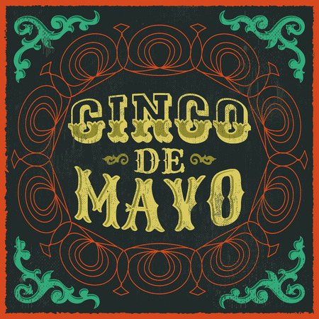 Cinco de mayo  vintage mexican traditional holiday design  vector poster card Illustration