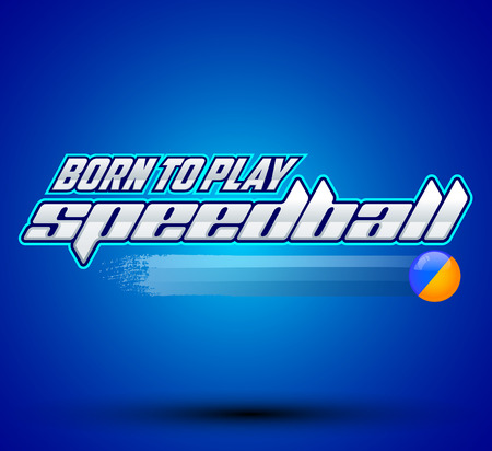 scenario: Born to play Speedball  is a format of Paintball gaming  icon colorful vector banner Stock Illustratie
