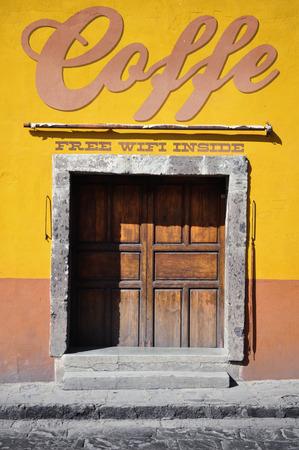 mini bar: Mexican coffe shop digital render illustration