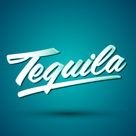 Tequila belettering Mexicaanse drank pictogram embleem