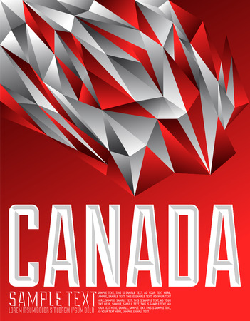 canadian flag: Canada - Vector geometric background - modern flag concept - Canadian colors Illustration