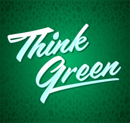 緑 - 創造的なエコ ベクター デザイン要素 - 葉の背景、テクスチャとレタリングを考える