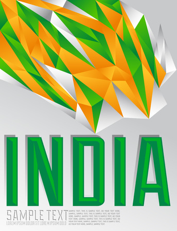 republic: India - Vector geometric background - modern flag concept - Indian colors