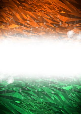 bandera de LA INDIA: Naranja, fondo blanco y verde listo para su texto, la India de fondo moderno - colores de la bandera