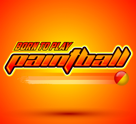 Born to play Paintball - icon colorful vector banner Ilustração