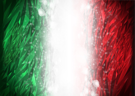 Red and green background ready for your text, Modern Mexico - Italy background - flag colors