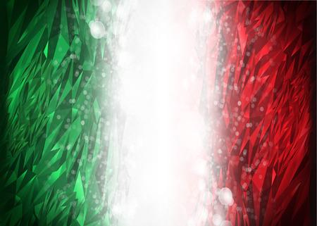 Rode en groene achtergrond klaar voor uw tekst, de moderne achtergrond van Mexico - Italië - vlagkleuren