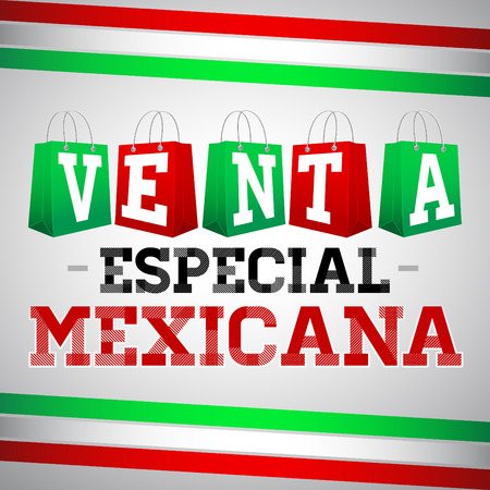 Venta Especial Mexicana - Mexican Special Sale, Vector Promotional poster for Mexican sales with discounts