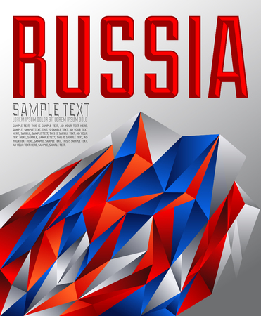 Russia - Vector geometric background - modern flag concept - Russian colors