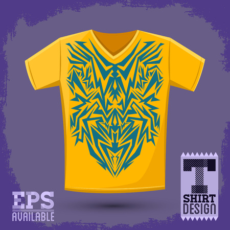 punk rock: Intricate Tribal shirt print design