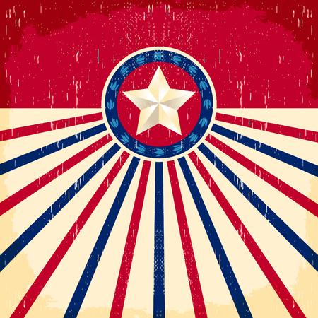 Vintage drapeau étoile fond - Card, style cow-boy de l'Ouest, les effets Grunge peut être facilement retiré Banque d'images - 46936794