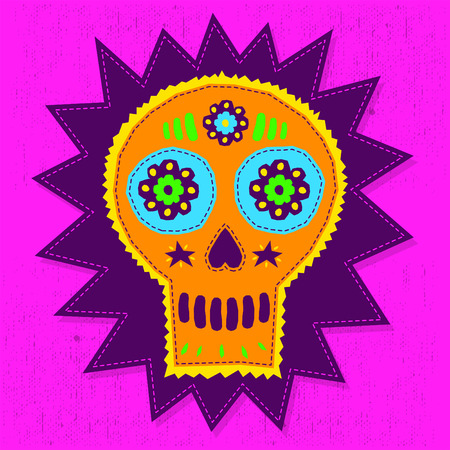 catrina: Skull Candy vector illustration - floral elements with hand craftsmanship style Illustration