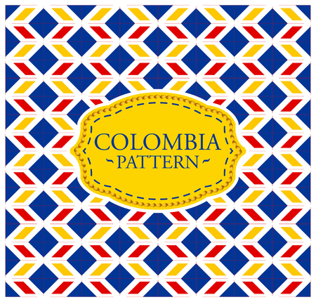 Colombia pattern - Seamless Background texture and emblem with the colors of the flag of Colombia