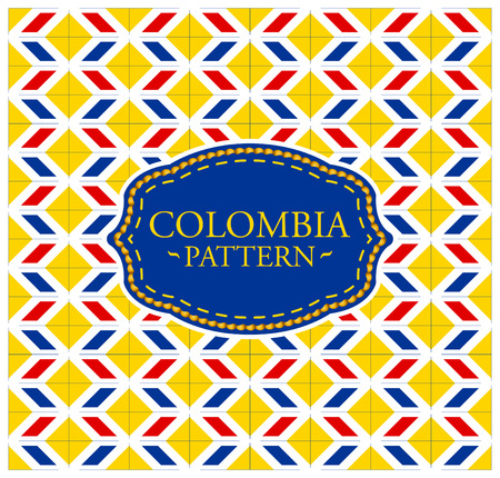 colombia flag: Colombia pattern - Seamless Background texture and emblem with the colors of the flag of Colombia