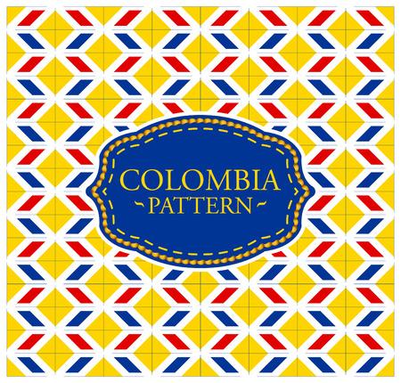 bandera de colombia: patrón de Colombia - perfecta textura de fondo y el emblema con los colores de la bandera de Colombia