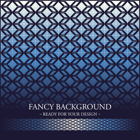 line pattern: Fancy Card with geometric background, luxury invitation design ready for your text Illustration