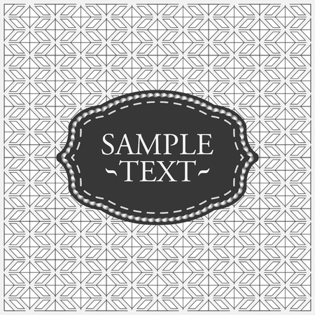 tillable: Monochrome geometrical pattern - seamless vector background with label ready for your text Illustration