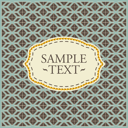 tillable: Vintage geometrical pattern - seamless vector background with label ready for your text