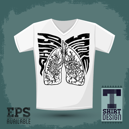 psycho: Graphic T- shirt design, Psycho Smoke  Illustration