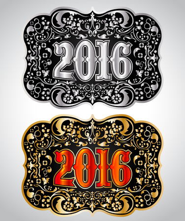2016 年カウボーイ ベルト バックル デザイン、2016年西部バッジ