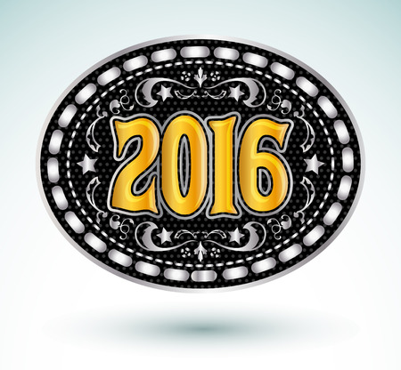 カウボーイ 2016 年オーバル ベルト バックル デザイン、2016年西洋紋章