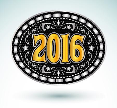 buckle: Cowboy 2016 year oval belt buckle design, 2016 western emblem