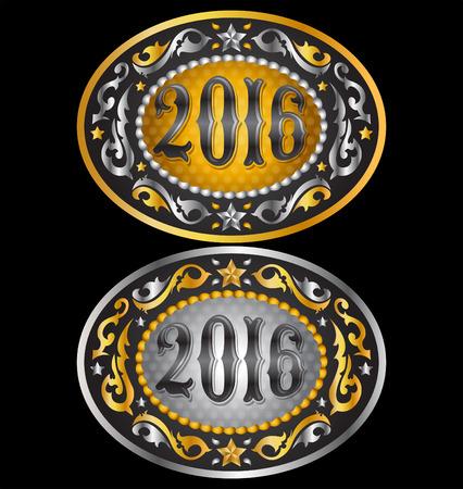 Cowboy 2016 year oval belt buckle design, 2016 western emblem