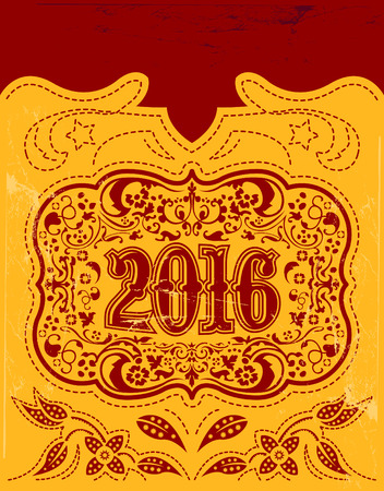 belt buckle: 2016 New Year holidays design - western style - cowboy belt buckle