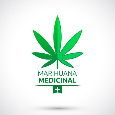 marihuana: Marihuana Medicinal - Medical Marijuana spanish text Illustration