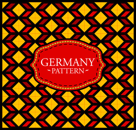 Germany pattern - Seamless Background texture and emblem with the colors of the flag of Germany