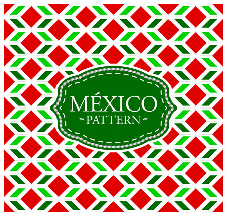 president of mexico: Mexico pattern - Seamless Background texture and emblem with the colors of the flag of Mexico