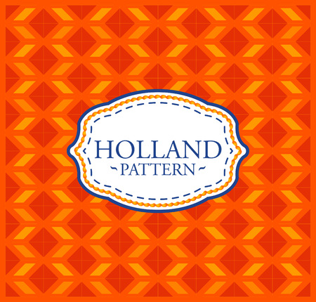 Holland pattern - Seamless Background texture and emblem with the colors of the flag of Holland