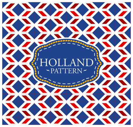 limburg: Holland pattern - Seamless Background texture and emblem with the colors of the flag of Holland