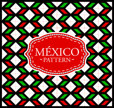 Mexico pattern - Seamless Background texture and emblem with the colors of the flag of Mexico