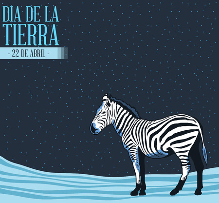 Dia de la tierra - Earth Day spanish text, concept illustration, april 22