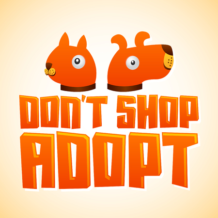don't care: Don?t Shop Adopt Illustration