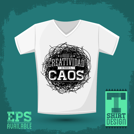 chaos: A veces la Creatividad se parece al Caos - Creativity sometimes looks like Chaos spanish text