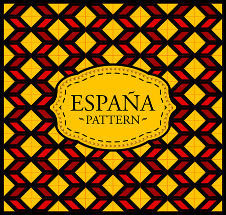Spain pattern - Seamless Background texture and emblem with the colors of the flag of  Spain 矢量图像