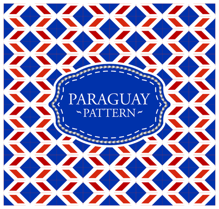 Paraguay pattern - Seamless Background texture and emblem with the colors of the flag of Paraguay