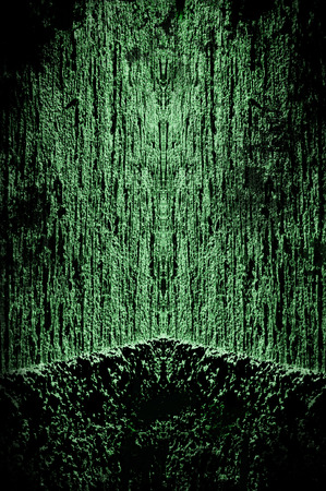 nightmare: Creepy dark green background - grunge illustration Stock Photo