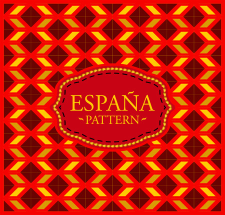 Spain pattern - Seamless Background texture and emblem with the colors of the flag of Spain