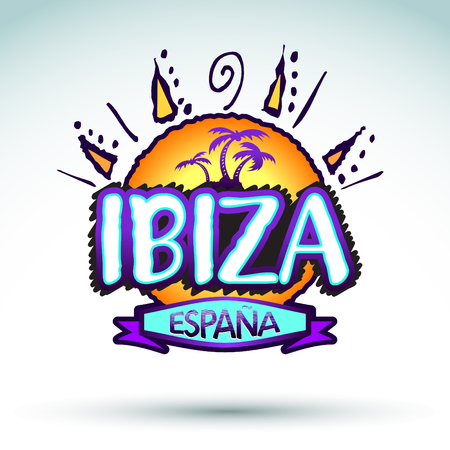ibiza: Ibiza Espana - Spain, icon, emblem design.